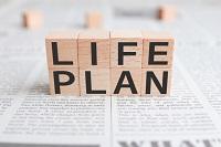 人生の目標設定と行動計画のイメージ